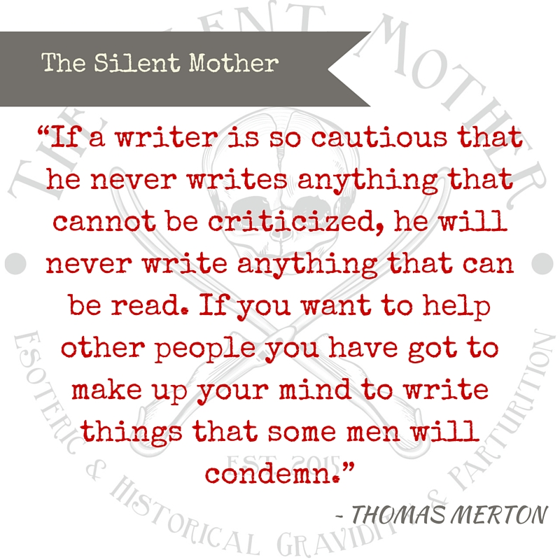 Thomas Merton quote, Silent Mother